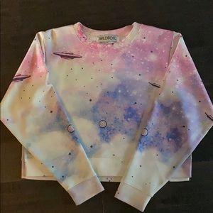 Wild Fox Planet Print Sweatshirt